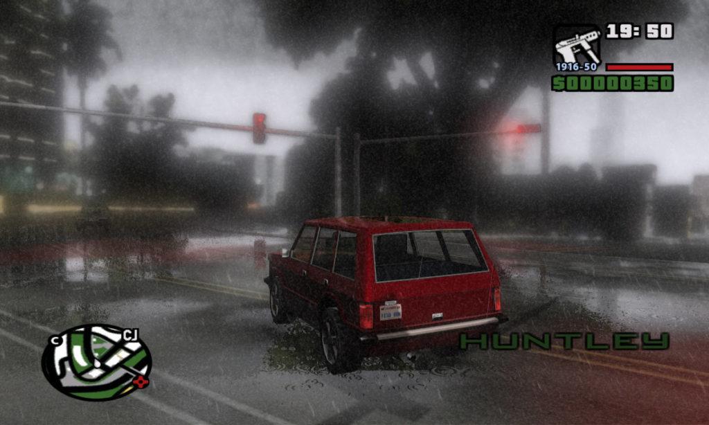 реалистичная графика гта сан андреас дождь лужи скачать енб