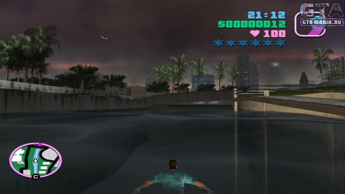 Мод на плавание для GTA Vice City как плавать вайс сити вай сити