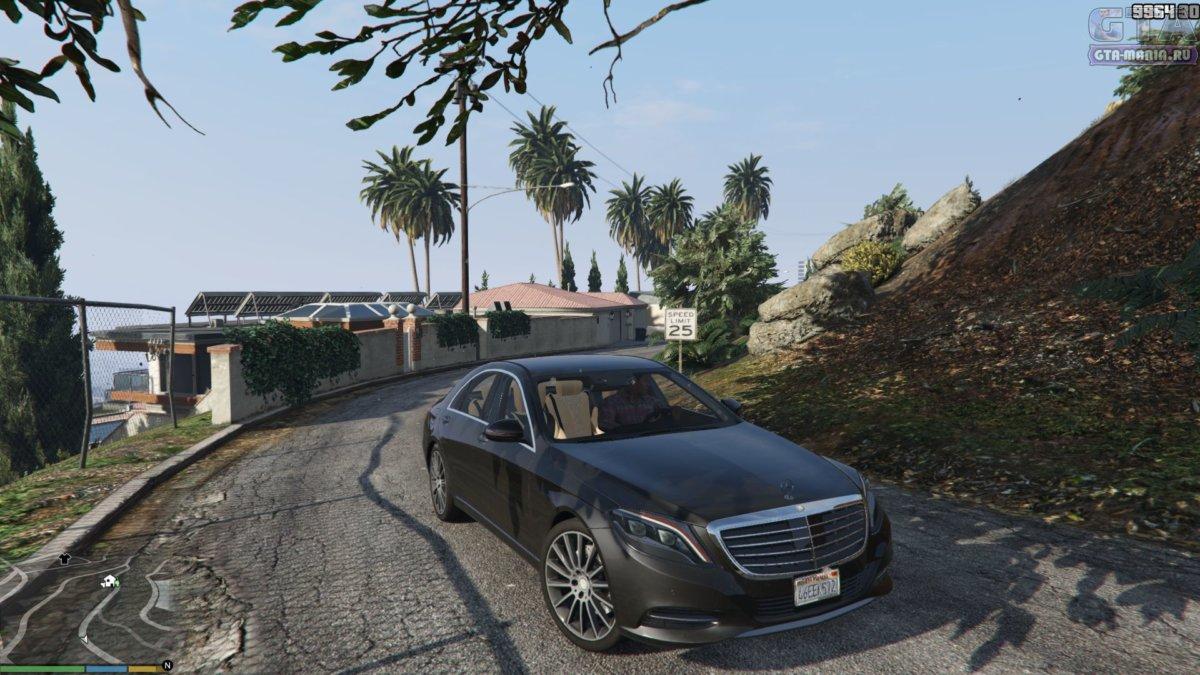 новый mercedes седан для gta 5 скачать