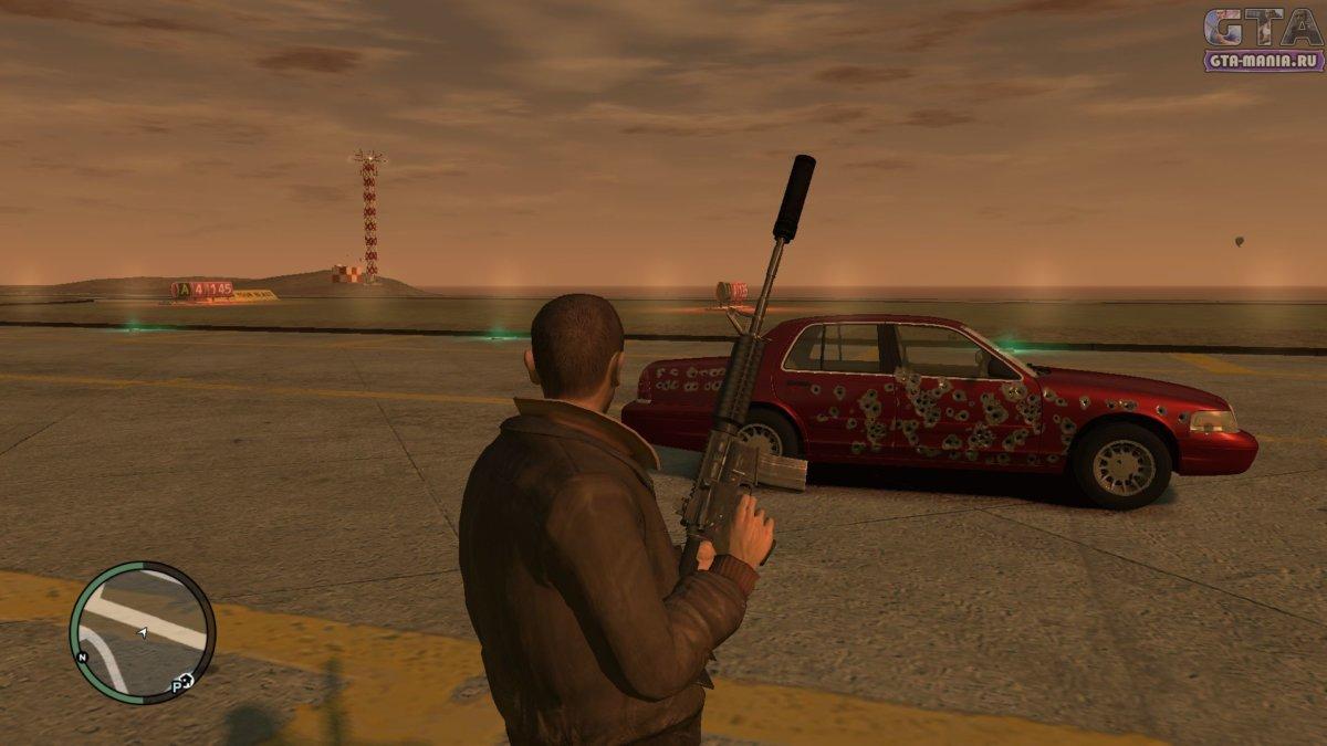 глушитель гта 4 глушитель на оружие для gta 4