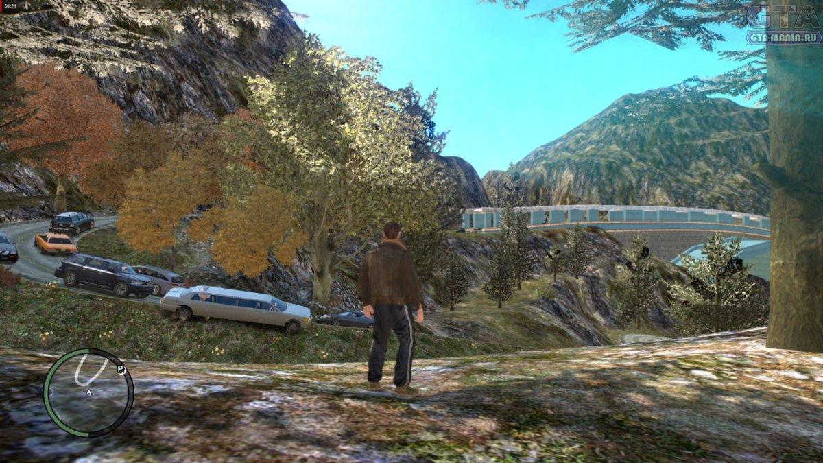 большой лес для гта 4 карта