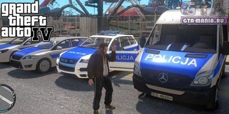 Пак полицейских машин для GTA 4