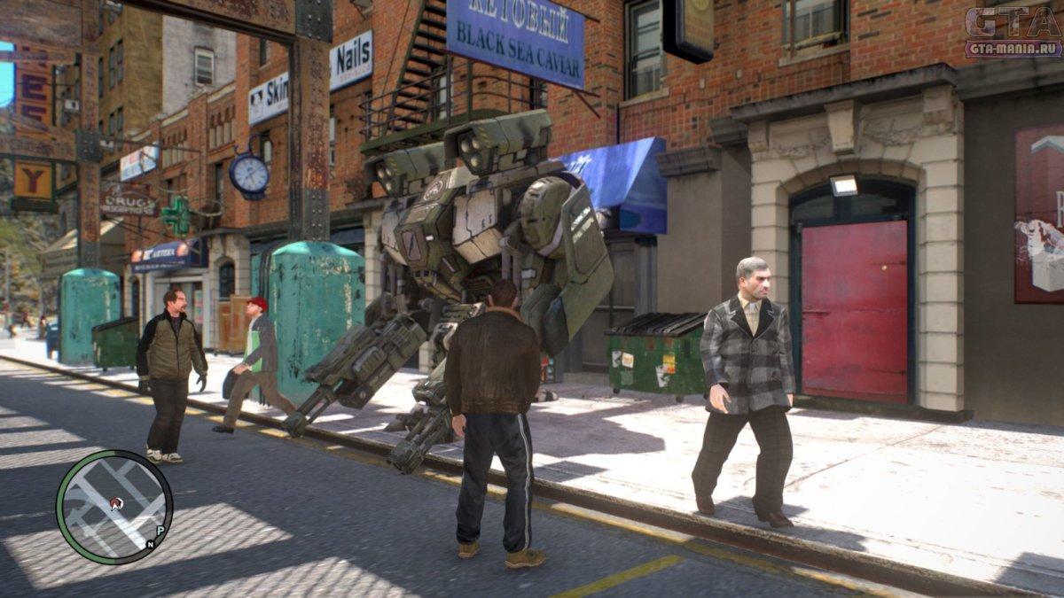бронированный робот в гта 4 мод