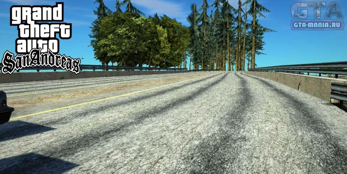 HD текстуры дорог для GTA San Andreas новые дороги качественные сан андреас гта мания