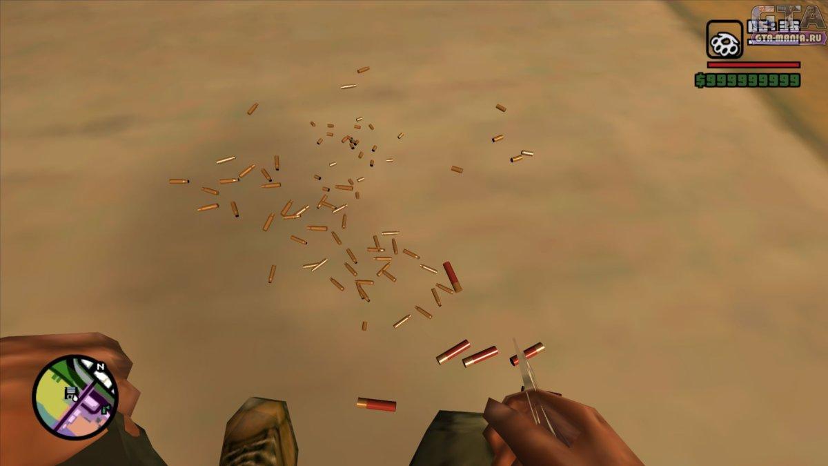 3D гильзы для GTA San Andreas гильзы от пуль гта сан андреас