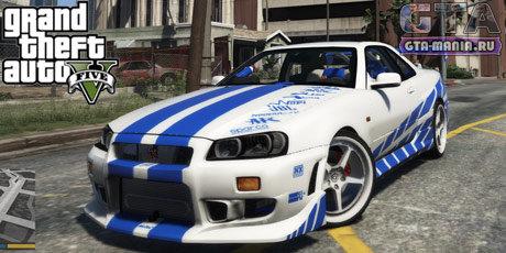 Nissan Skyline GT-R34 для GTA 5 ниссан скайлайн гта 5 форсаж пол уокер гта мания