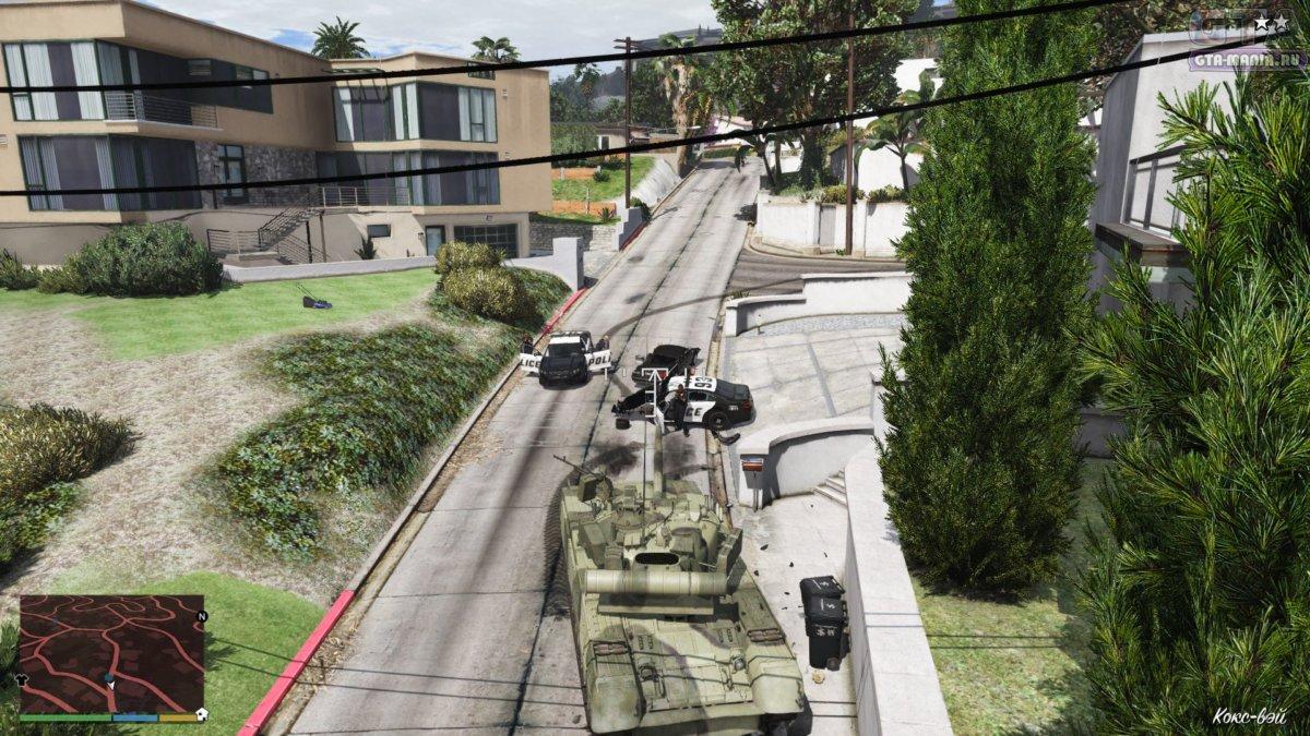 танк с автоустановкой для гта 5 скачать
