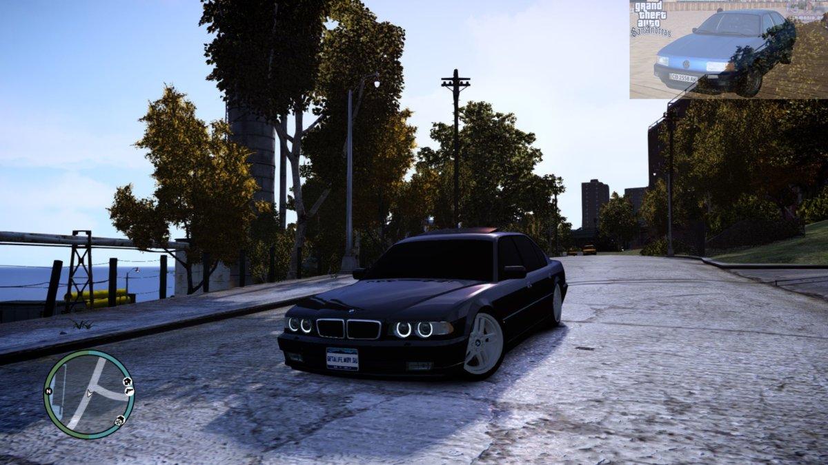 BMW 750 E38 для GTA 4 бмв е38 740и л бєха семерка