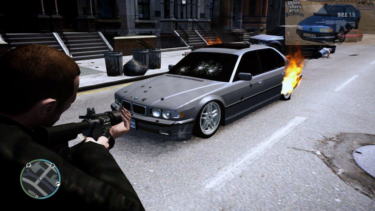 BMW 750iL E38 для GTA 4 бмв е38 740 л бєха семерка