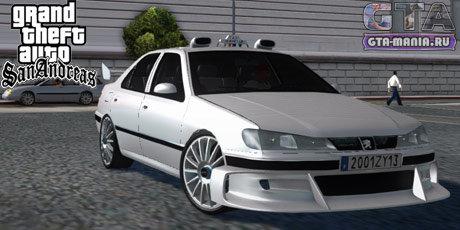 Peugeot 406 Taxi 2 для GTA San Andreas такси 2 пежо 406 гта сан андреас