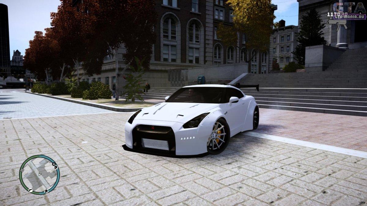 Nissan GT-R R35 Liberty Walk для GTA 4 ниссан гтр р35 гта 4 автоустановка