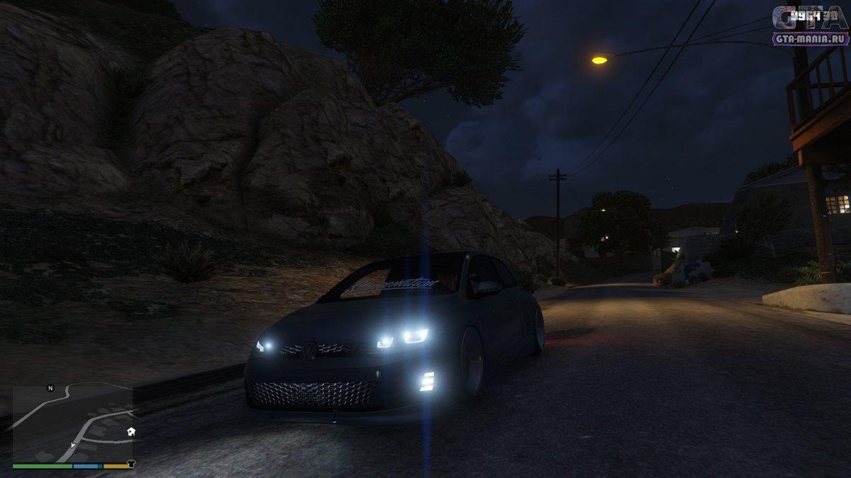 Vw Golf GTI Pandem для GTA 5 фолькваген гольф гти гта 5 тюнинг