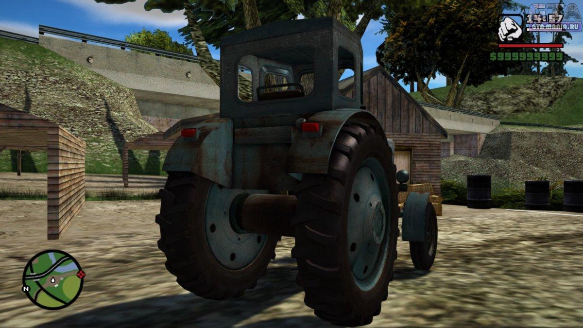 Трактор Т-40М для GTA San Andreas трактор т40 гта сан андреас