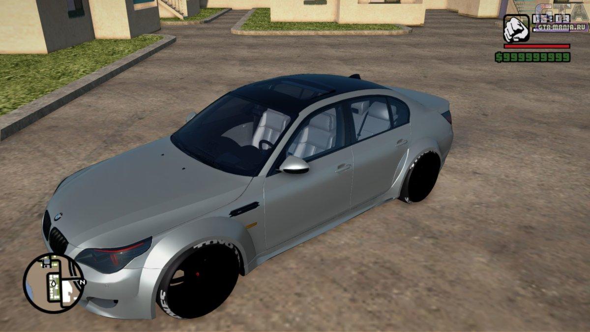 BMW M5 E60 Wide Body для GTA San Andreas бмв м5 е60 гта сан андреас