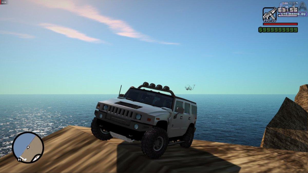 Hummer H2 Tunable для GTA San Andreas хаммер х2 гта сан андреас