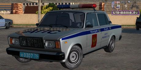 ВАЗ 2107 Полиция для GTA San Andreas жигули семерка полиция копы гта са